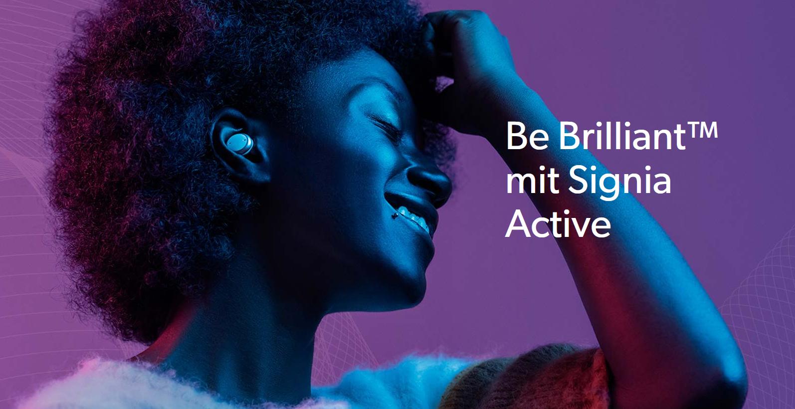 Be Brilliant mit Signia Active 1